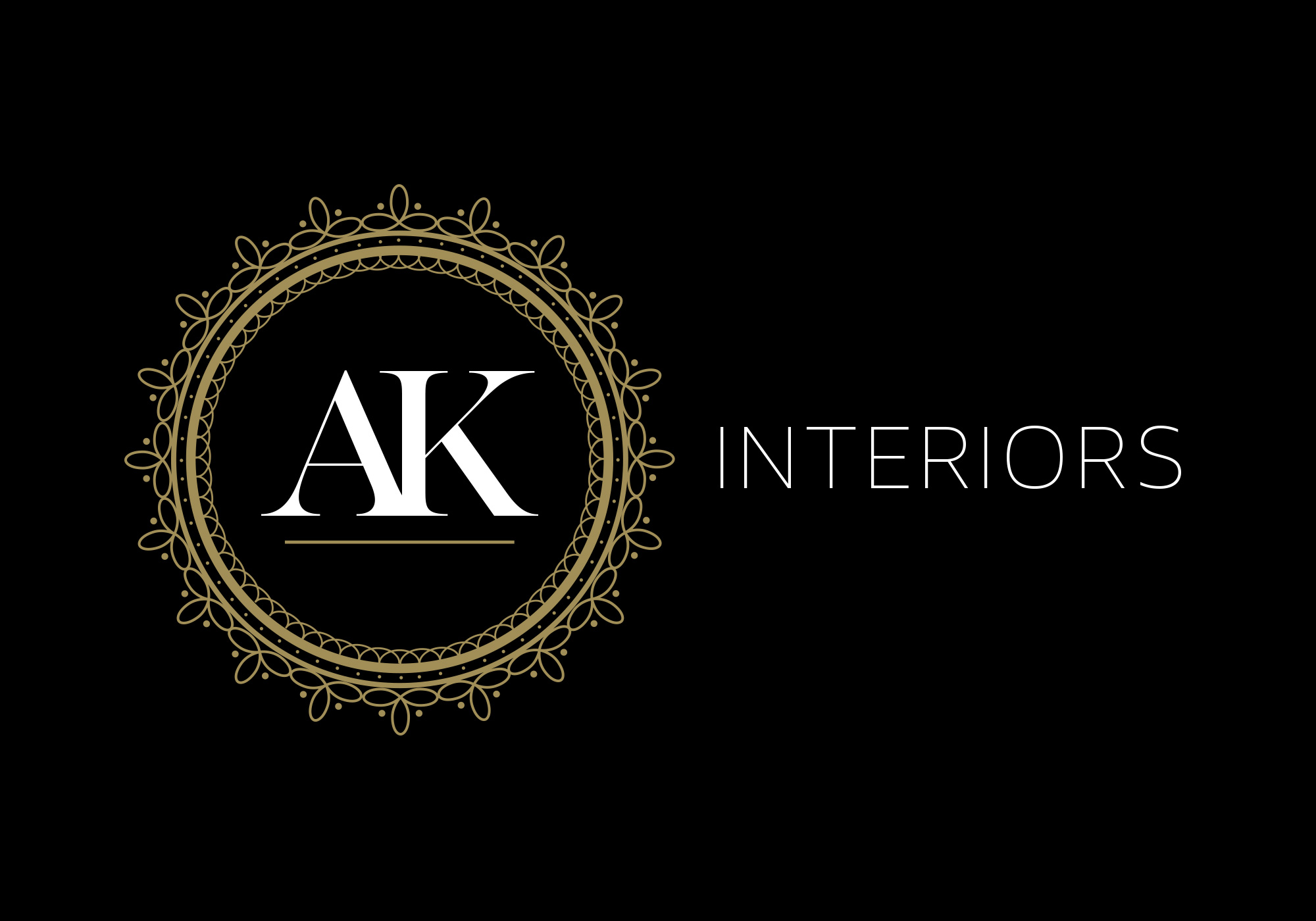 AK Interiors - Reversed Logo