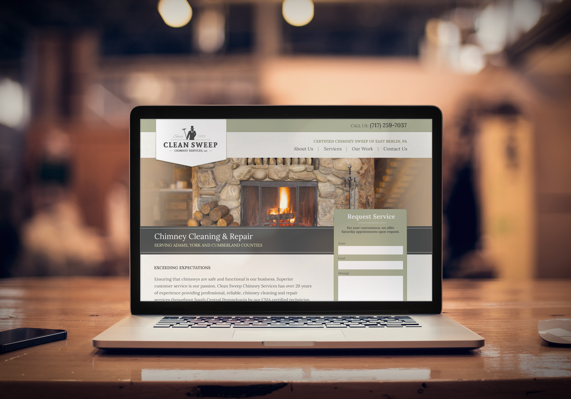 Clean Sweep Chimney Services - Responsive Website