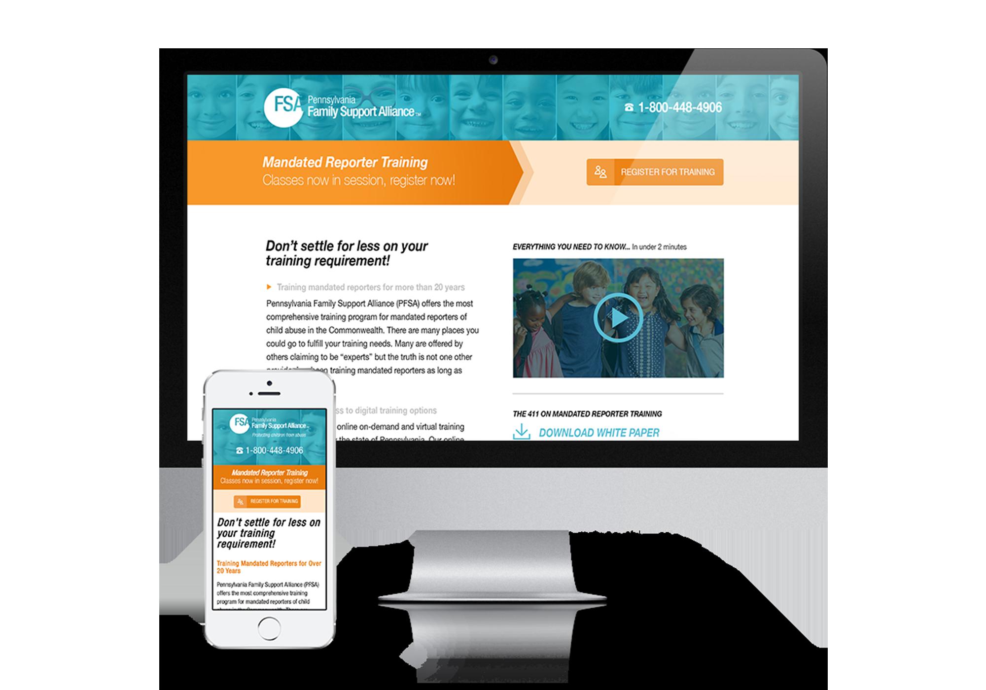 PFSA - Responsive Landing Page