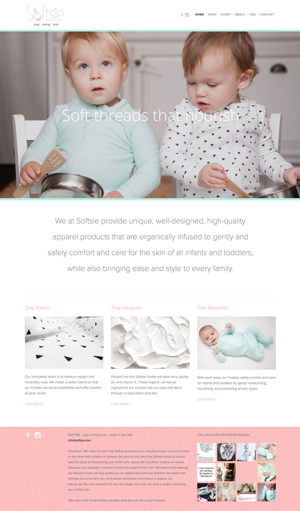 Softsie - Website - Home Page