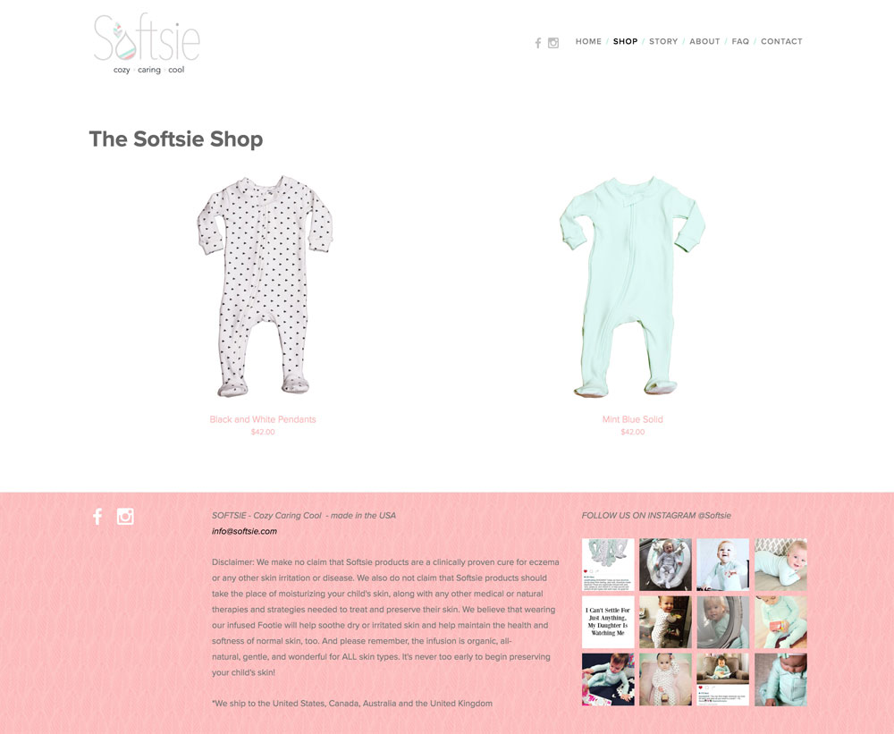 Softsie - Website - Shop Page